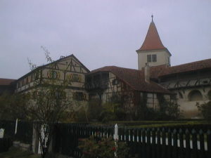 銃孔があるハールブルク城(Burg Harburg)