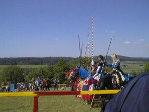 騎士のスポーツ馬上槍試合(Turnier)